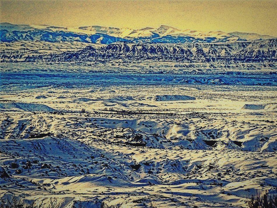 Worland Wyoming Desert Sagebrush Snow Winter Beauty In Nature Outdoors Worland WY Day Sky
