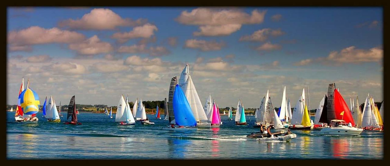 Sport Competition Regatta Nautical Vessel Sailboat Teamwork Sports Race Sailing Sports Team Outdoors Water No People Competitive Sport Crew Yacht Day Yachting