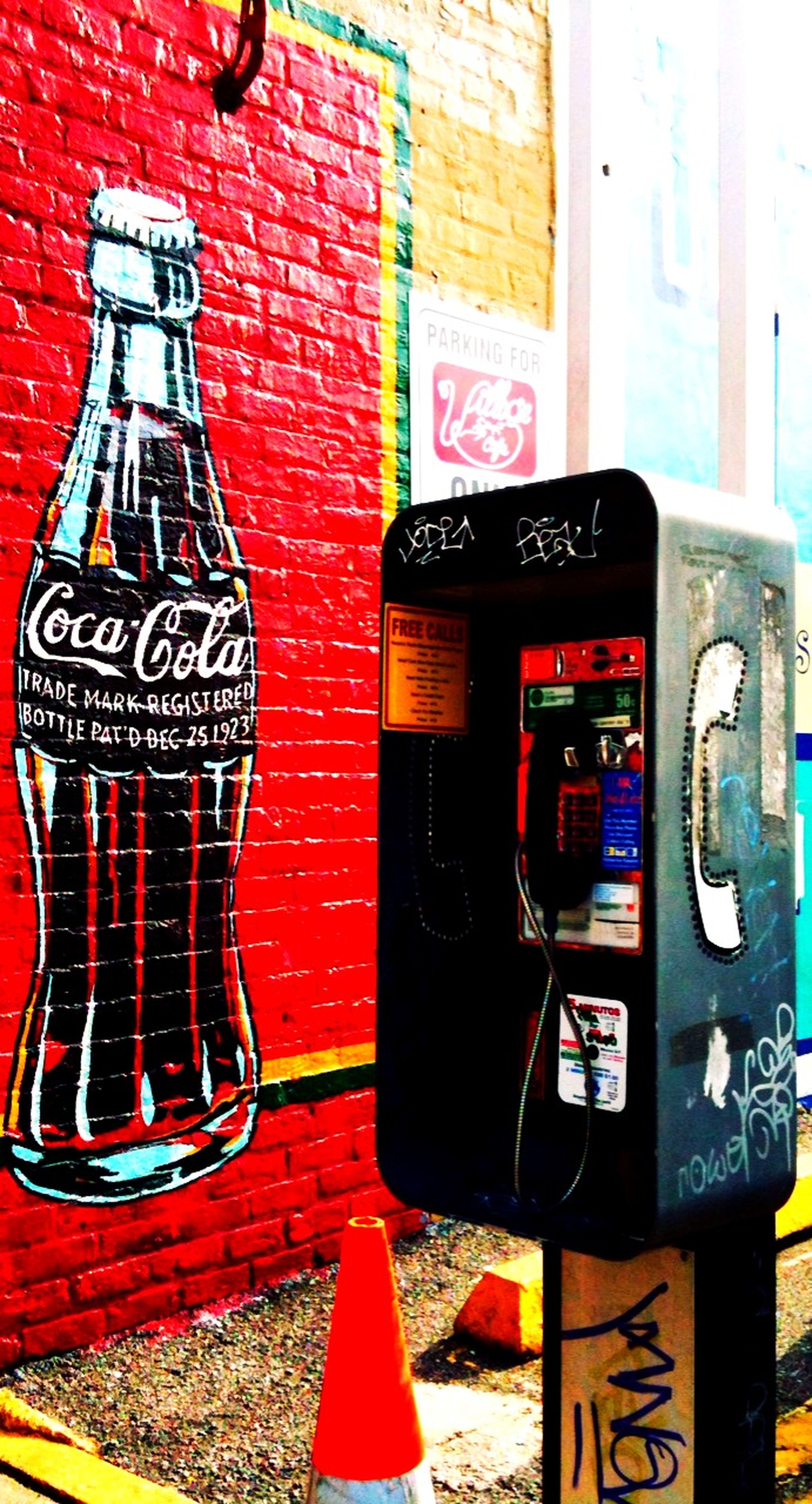 coke & phone at The Village Cafe Coke & Phone