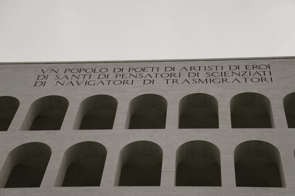 Arch Architecture Fascism Fascistarchitecture Italy No People Razionalismo Roma Rome