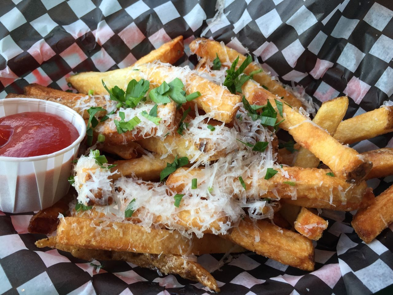 Parm fries Foodspotting