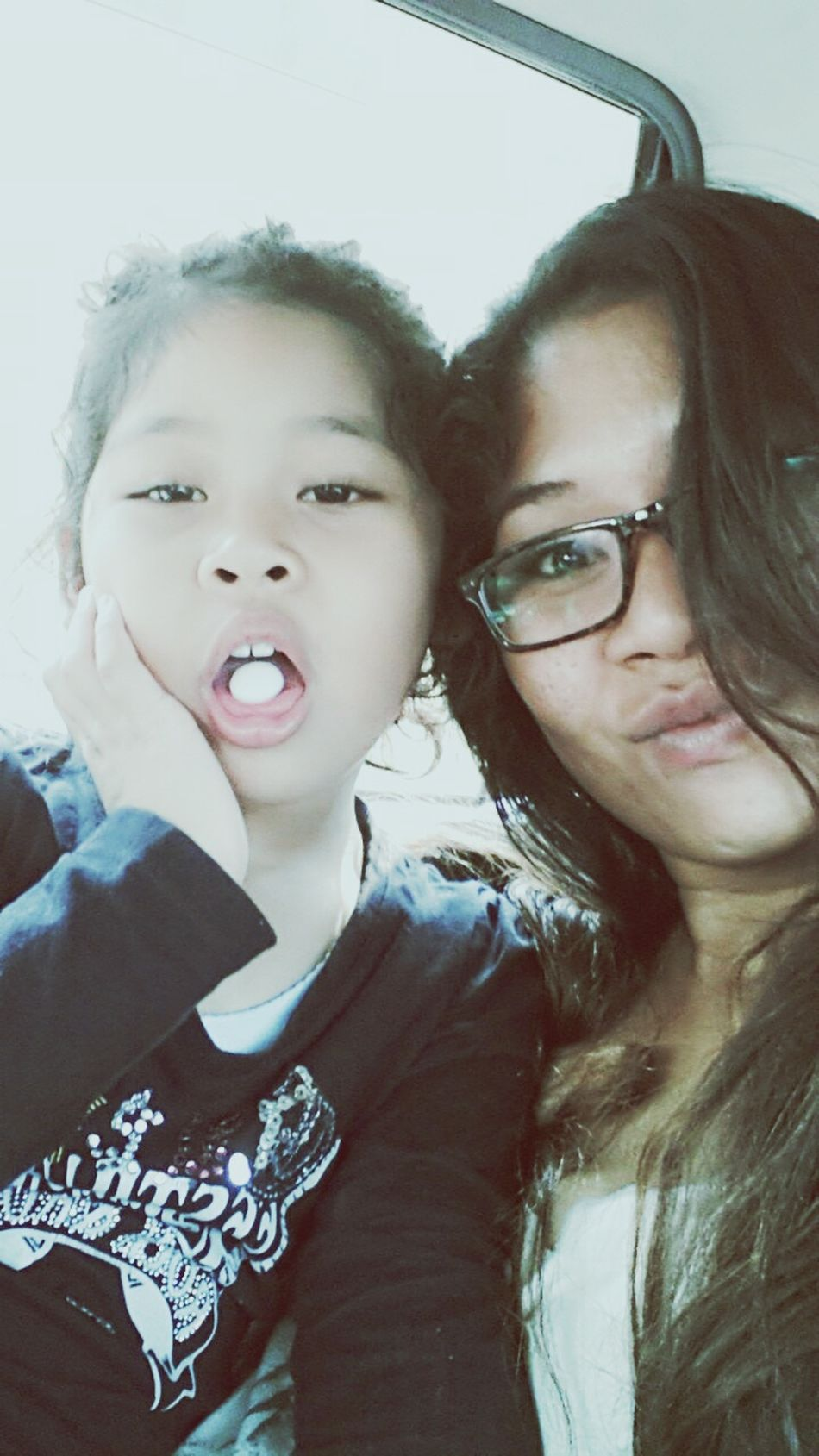 Mother & Daughter oow to pickup datuk at the airport.. that noon.. Mamas Girl ♥♥