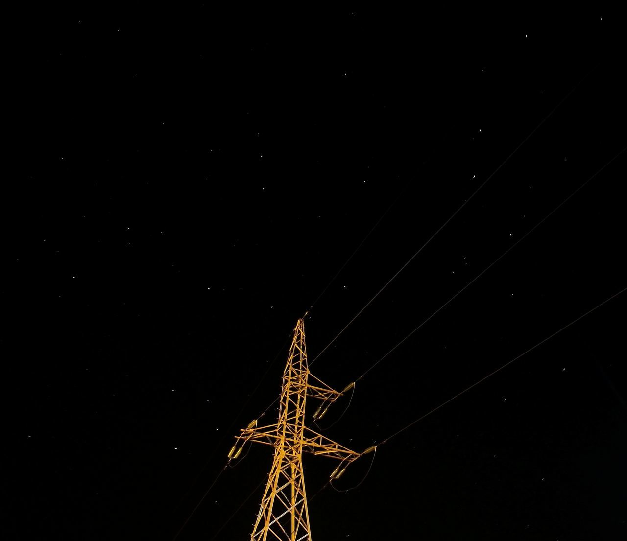 Almost Eifel Tower Electricity Tower Night Sky Star - Space Low Angle View Long Exposure No People Motion Galaxy Outdoors Dark EyeEmNewHere Black