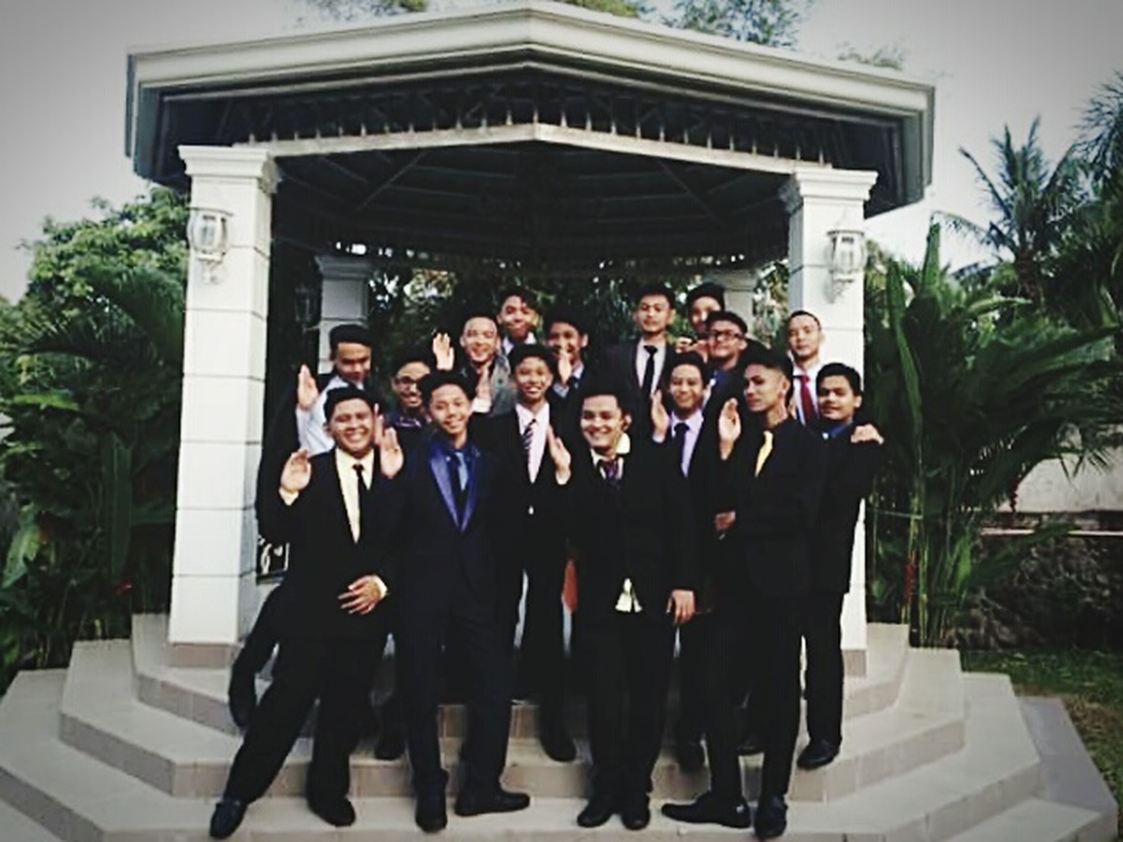 Well-dressed Large Group Of People Celebration People Outdoors Front View Looking At Camera Full Length Mature Men Young Adult Promenade♡ Boys Standing Pabebewavepamore Goodlooking Gentlemen Requested Portrait .I will this persons who protect me! Symbol Of Friendship Friendship Smiling