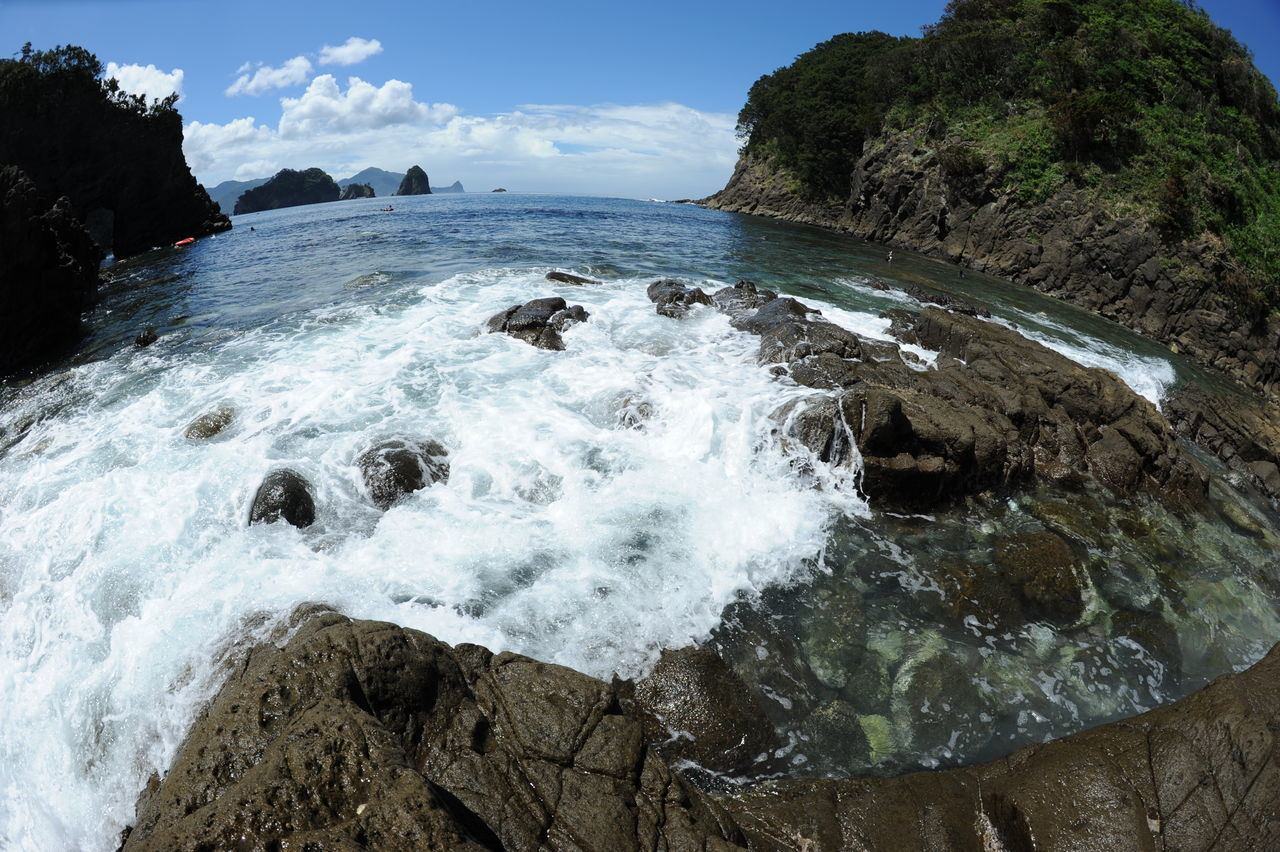 Beautiful stock photos of ocean, Beauty In Nature, Coastline, Day, Fish-Eye Lens