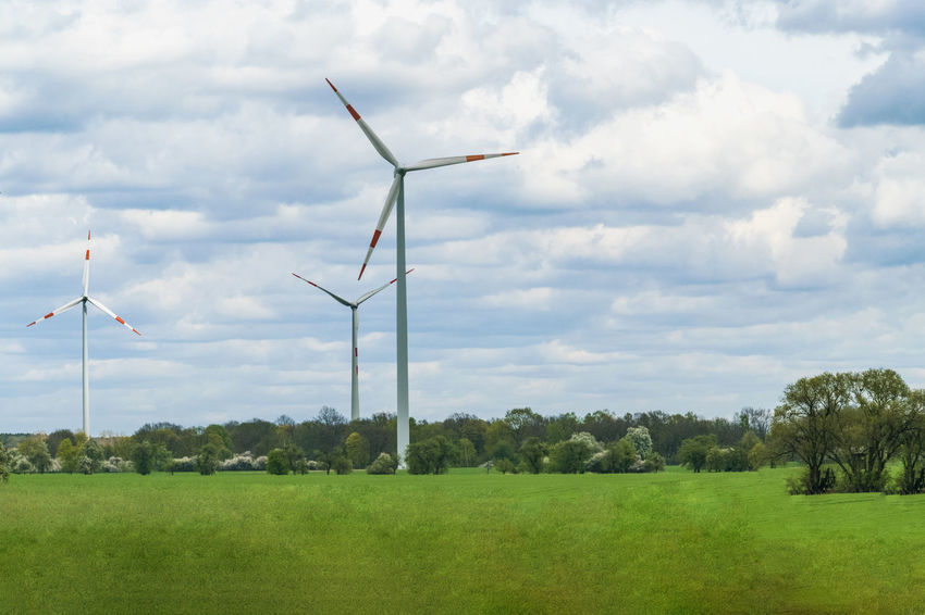 Alternative Energy Cloud - Sky Day Environment Environmental Conservation Field Fuel And Power Generation Grass Green Color Industrial Windmill Landscape Nature Outdoors Renewable Energy Rural Scene Saxony Anhalt Sky Sustainable Resources Technology Tree Wind Wind Power Wind Turbine Windmill