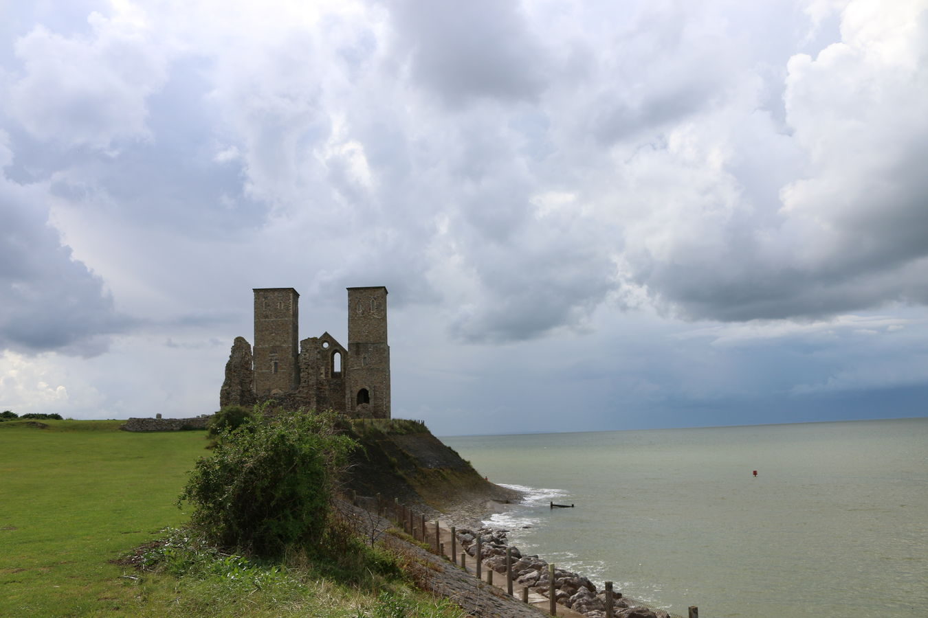 Architecture Cloudy Heritage Heritage Building Kent Reculver Sea And Sky Sky