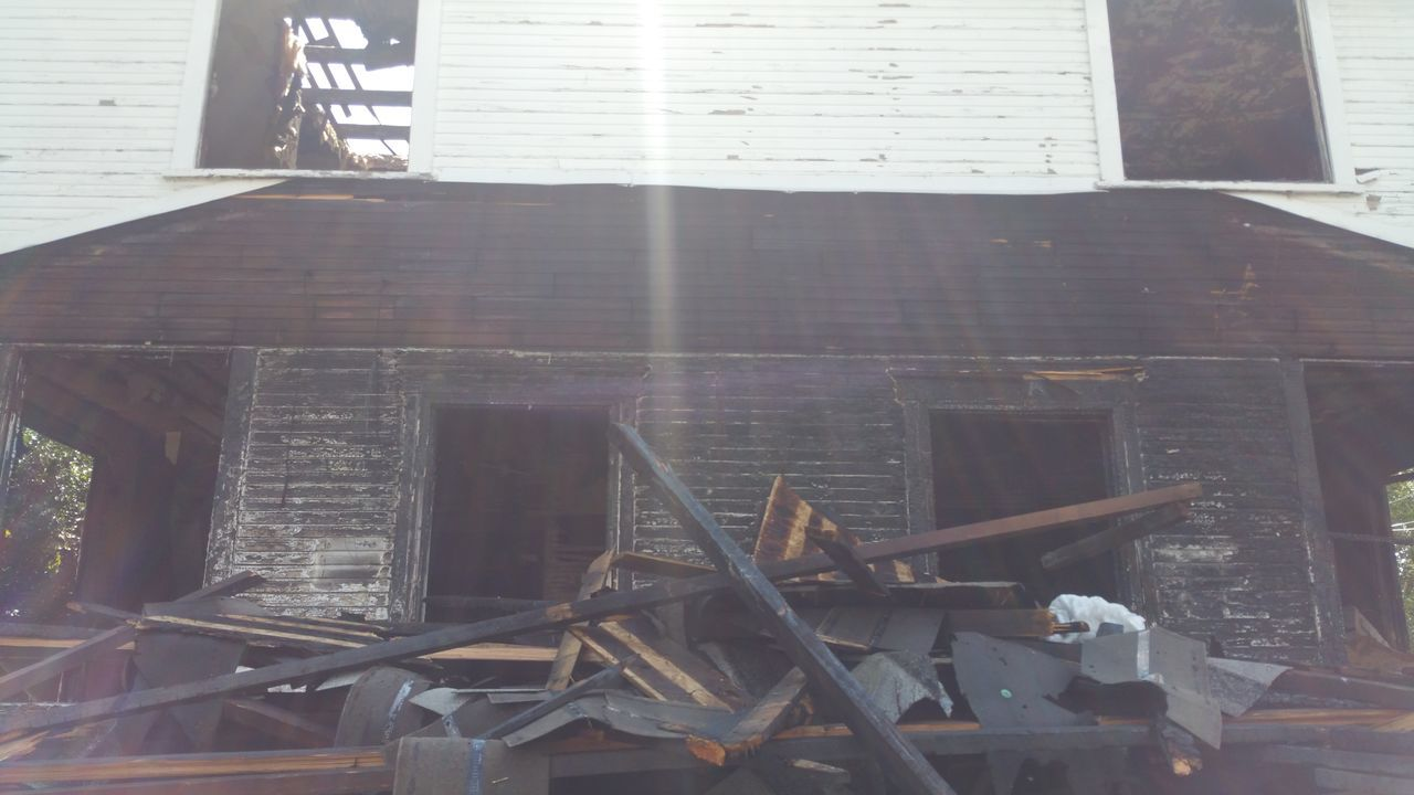 Damaged Built Structure Architecture Weathered Outdoors Messy Burnt Burned Burned House Fire
