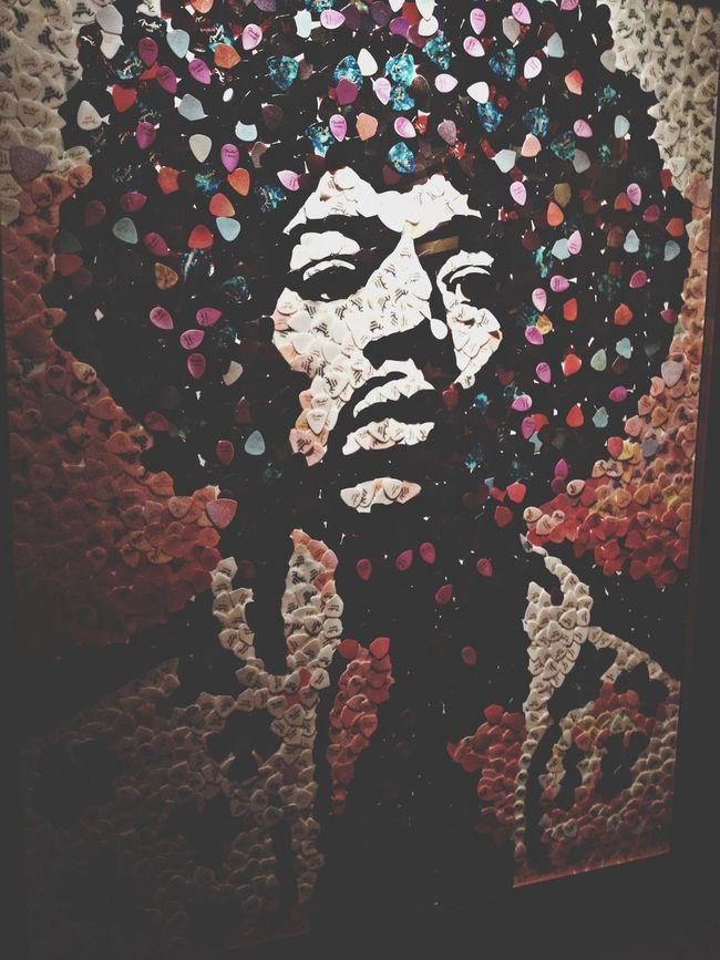 Jimi Hendrix Guitar Picks Art Hollywood