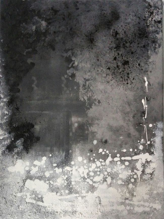 Painting Paint Black White Grey Selfmade Love ArtWork Art