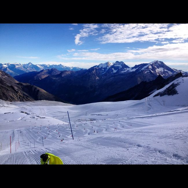 Summer Skiing in Saasfee Mountain Snow Cold Temperature Winter Season
