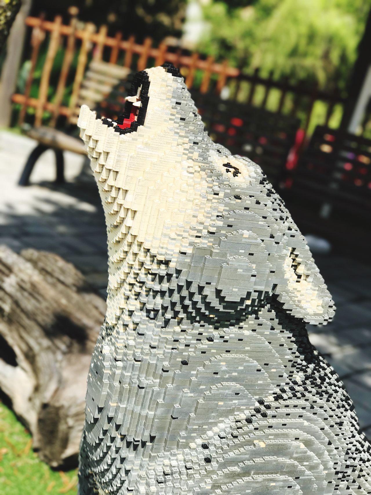 Focus On Foreground Day Sunlight Close-up No People Outdoors Nature Animal Themes Wolf Mammal Wolf made of Lego Bricks LEGO Legophotography