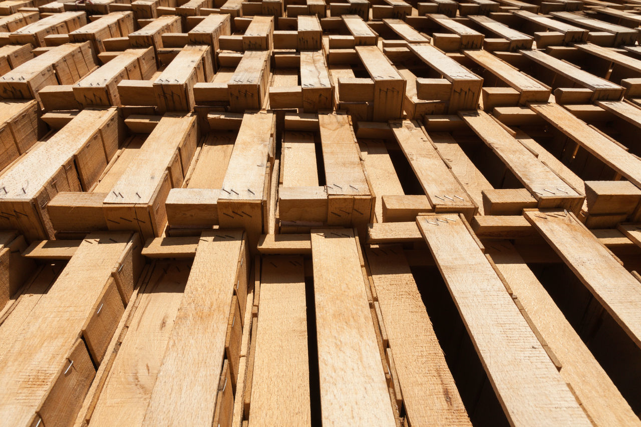 stack of wooden fruit crates Backgrounds Crates Day Full Frame Iznik No People Outdoors Pattern Pattern Pieces Stacked Stacks  Texture Turkey Wood Wooden