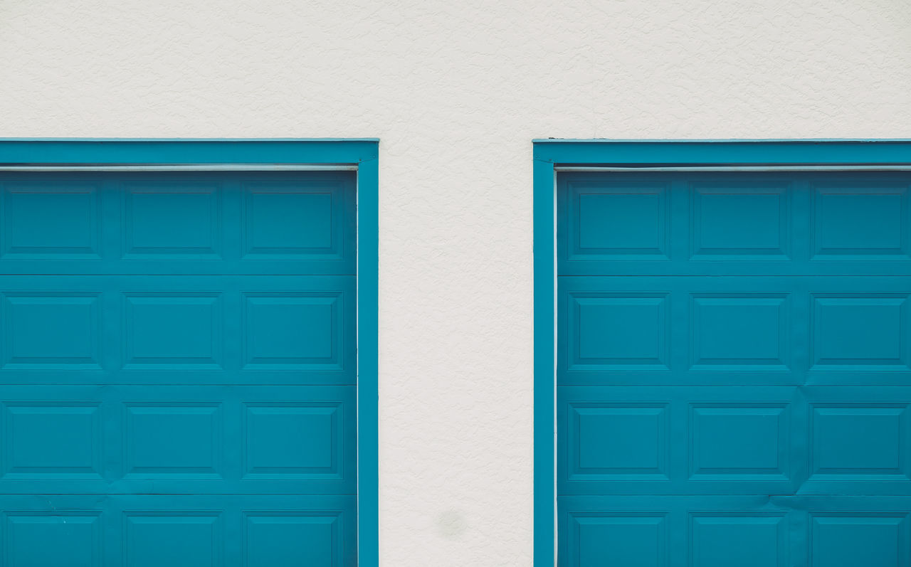 Back Blue Centered Composition Garage Doors Pastel Power Pattern Symetrical Texture