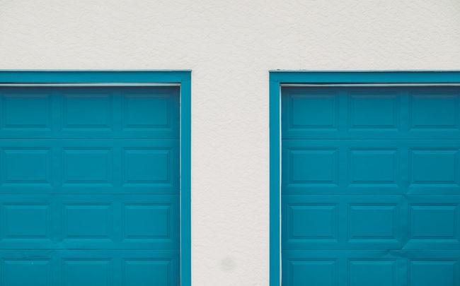 Back Blue Centered Composition Garage Doors Pastel Power Pattern Symetrical Texture