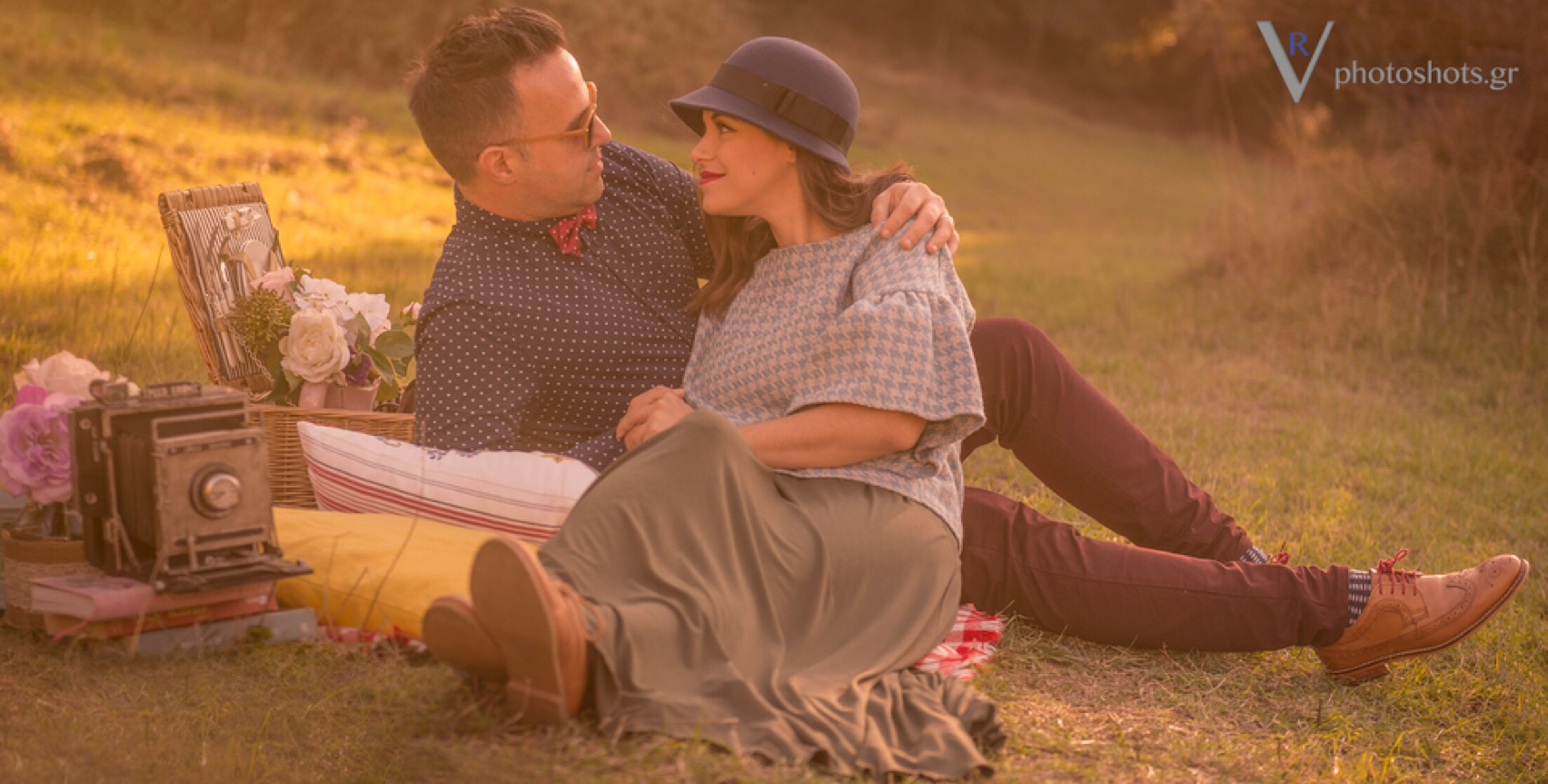two people, togetherness, cultures, grass, hat, beautiful people, field, women, sitting, beauty, young adult, young women, adult, men, people, happiness, autumn, outdoors, females, portrait, smiling, cheerful, nature, beauty in nature, picnic, adults only