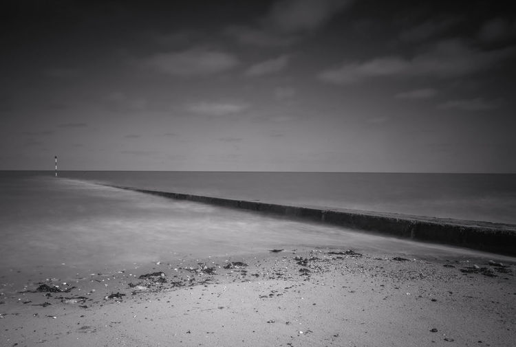 Minis Bay Atmosphere Atmospheric Mood Barren Beach Birchington Kent Minis Bay Mystery Outdoors Remote Sand Sand Dune Sea The Way Forward Tranquil Scene Tranquility