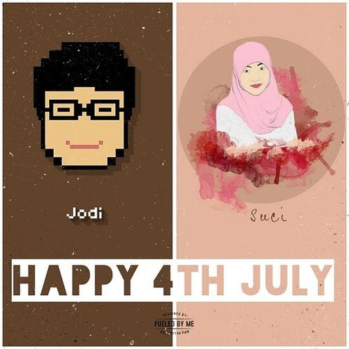 Happee Birthdae Guys.. Happy4thJuly Design Birthday Portrait