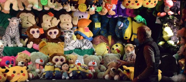 Abundance Arrangement Art And Craft Choice Collection Creativity Culture Displayed Fairground For Sale Full Frame Hanging Hull Hull 2017 Hull City Of Culture 2017 Hull Fair In A Row Large Group Of Objects Multi Colored Order Outdoors Princess Retail  Toys Variation