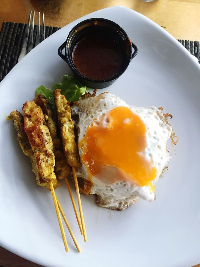 fried rice and chicken satay peanut sauce 😋 Food Friedrice Menu Lauch Asiafood ASIA Yummy Chickens Satay Hanging Out Check This Out Hello World Eyem Gallery Eyem Collection Egg EyeEm EyeEm Best Shots Photo Popular Photos