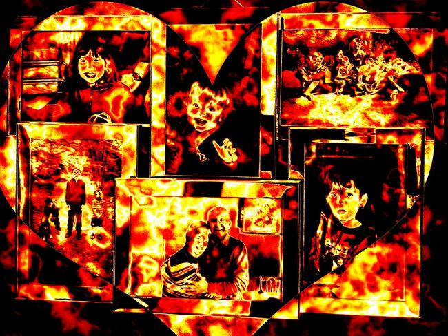 Family Burning Love Heart Art And Craft Special Effects