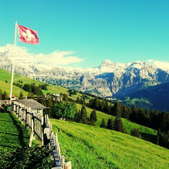 Beautiful Landscape and Panorama from Bühlberg Lenk Simmental Switzerland