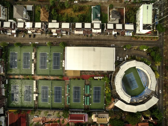 Flying High Sport Complex Sport Competition Sport High Angle View View From Above Drone View Tennis Club Tenniscourt Tennis 🎾 Drone  Drone  Above The City