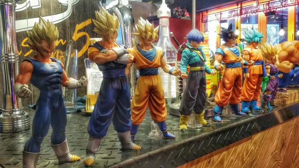 Dragon ball figures!! ^^ I miss those old days when I was immersed in the imagination from this Japanese manga. Dragon Ball Japanese Manga Figures