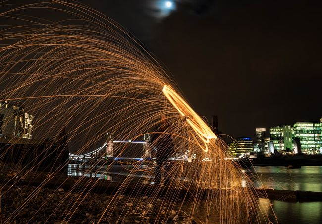 Late night adventures in London City City Life Cityscape Glowing Illuminated Light Modern Motion Night No People Outdoors Sky Travel Destinations Water Cities At Night