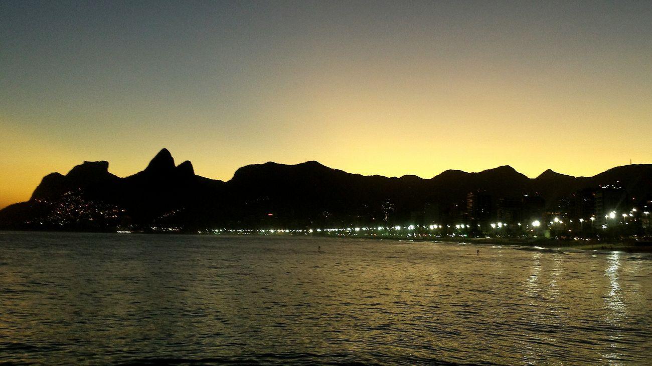 Mountain Sunset Beauty In Nature Riodejaneiro Rio De Janeiro Ipanema Beach