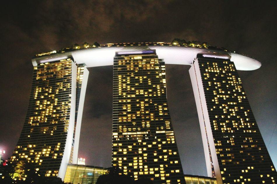 Singapore Singapore Marina Bay Sands Singaporearchitecture Famous Hotel City Travelphotography Nightphotography