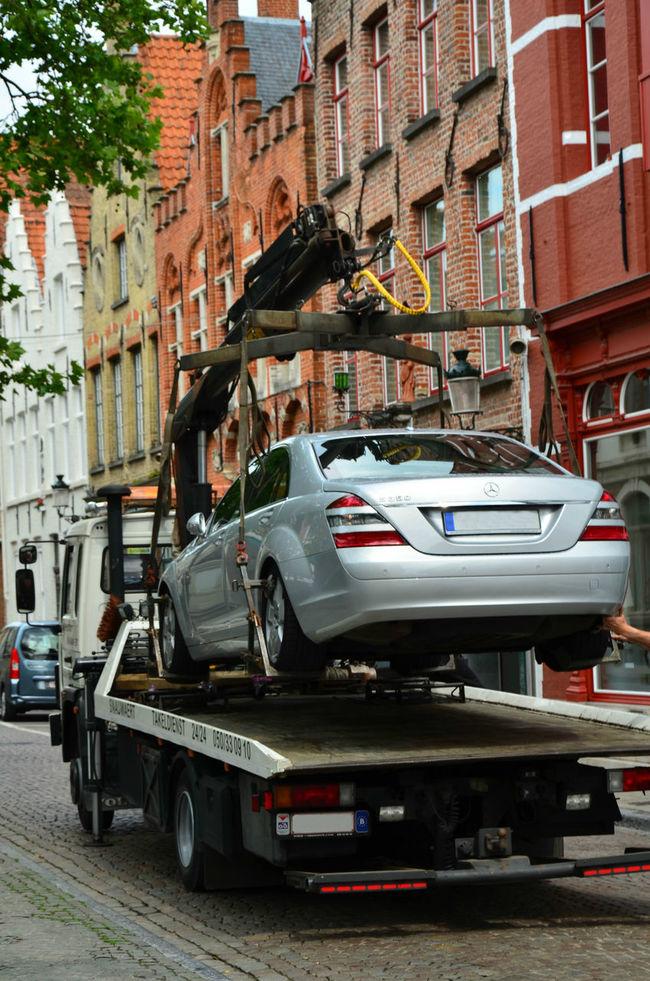 Car Impounded Impounded Car Mode Of Transport Parking Stationary Street Transportation Truck Vehicle Vehicle Impoundment