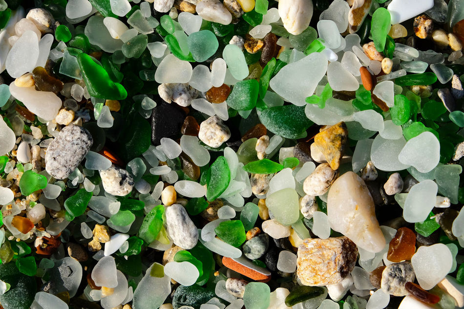 Beach Close Up Close-up Day Eroded Fragility Freshness Full Frame Galicia Glass Green Color Growth Large Group Of Objects Leaf Nature No People Pebbles Plant Praia Dos Cristais Sand