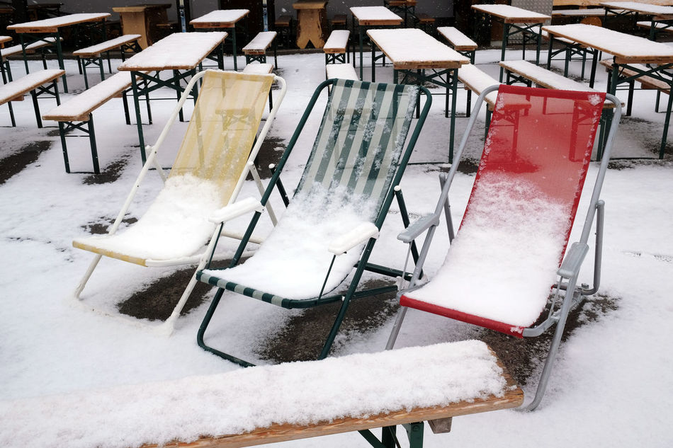 Sunbeds with snow Cold Temperature In The Ski Resort No People Outdoor Restaurant Outdoors Ski Resort  Snow Snow Covered Sunbeds Snowcapped Restaurant Sunbeds Sunbeds And Snow Winter Winter Sunbeds Wintertime