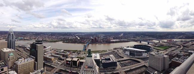 View from the carews tower in Cincinnati Ohio Ohio, USA Cincinnati Carew Tower Panoramic Scenery City Cityscapes Ohio River