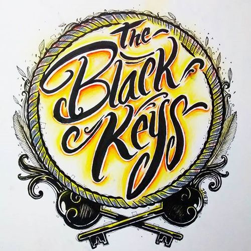 The Black Keys Handstyle Handlettering Handmade Pen Brush Calligraphy Lettering Belmenid Kaligrafina Typography Typo Illustration ArtWork Design Theblackkeys Band Rock Garage Rocknroll