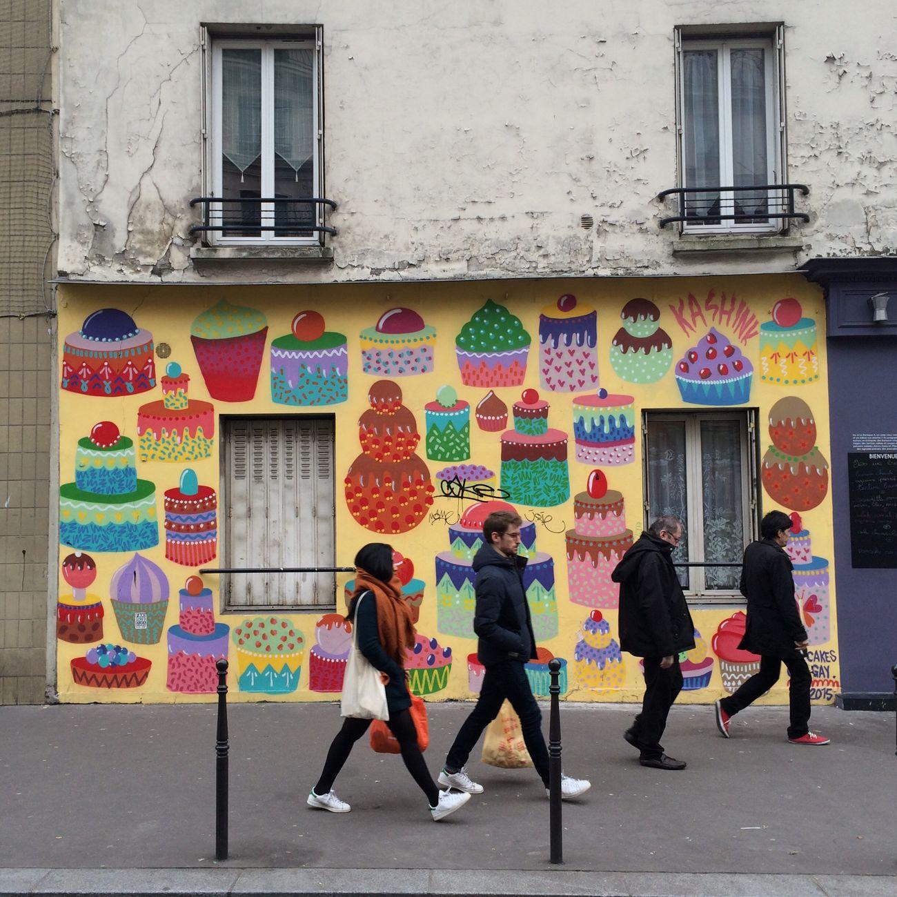 Wall Gateaux Streetphotography Paris 75010