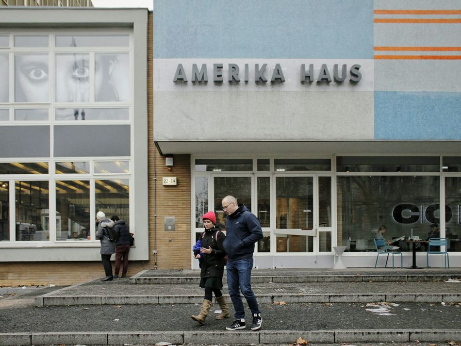 Amerika Haus Co Berlin Amerika Haus Galery Togetherness Outdoors Building Exterior Built Structure Architecture Day City From My Point Of View Eye4photography  EyeEm Best Shots Snapshots Of Life Street Streetphotography Street Scene Architecture Walking Urban Exploring Urban Life Photography