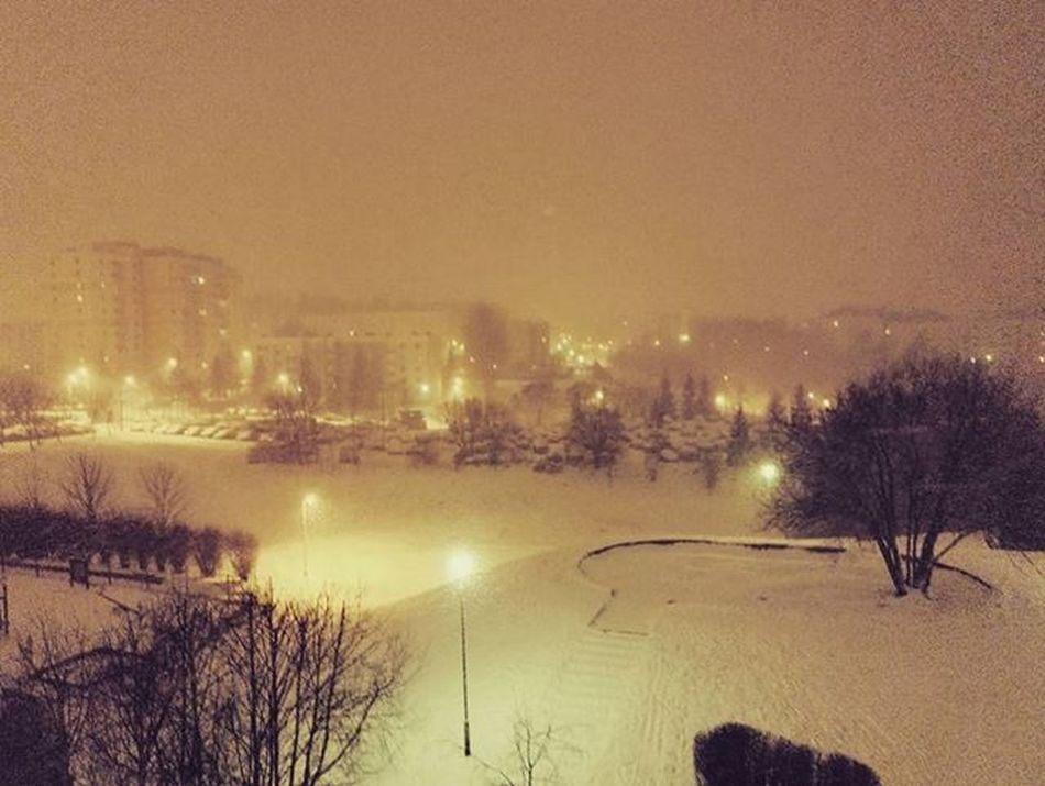 Winter is my biggest Love ❄💗❄ Gdansk Snow Night Lights Pretty Awesome Honor7 @honorglobal @honor_polska