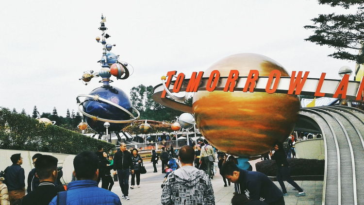 📷: @wndrwmnn Large Group Of People People Leisure Activity Day Outdoors Crowd Hanging Amusement Park Hongkonger Hongkong Photos HongKong Phone Photography Hongkongphotography Hongkonglife Hongkongtrip Travel DisneyLandHongKong Disney Land Disney World Built Structure Building Exterior Travel Destinations