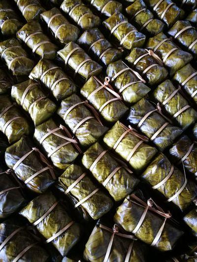 Khao Tom Mud Stickyrice With Banana Stream Snack