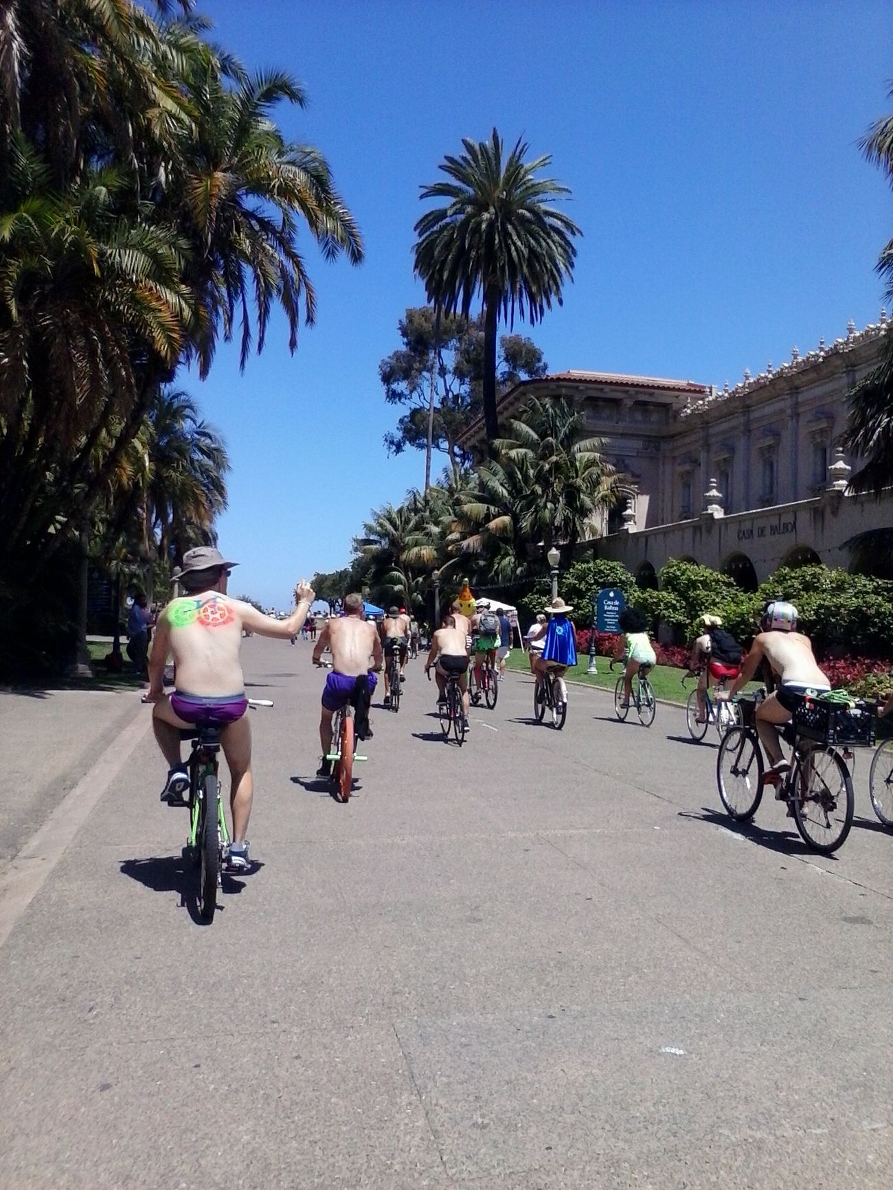 Naked Bike ride 2014 San Diego