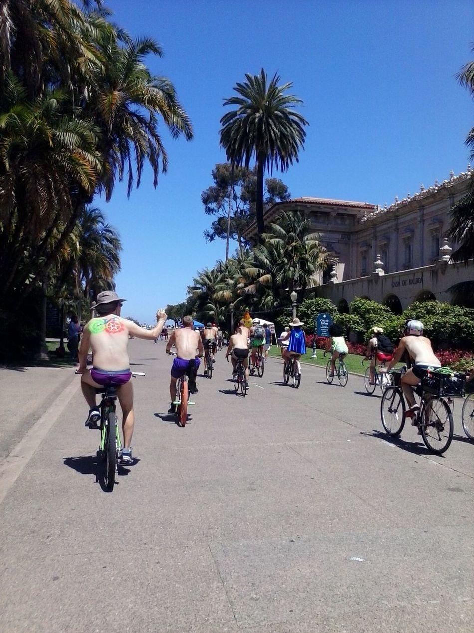 Naked Bike ride 2014 San Diego