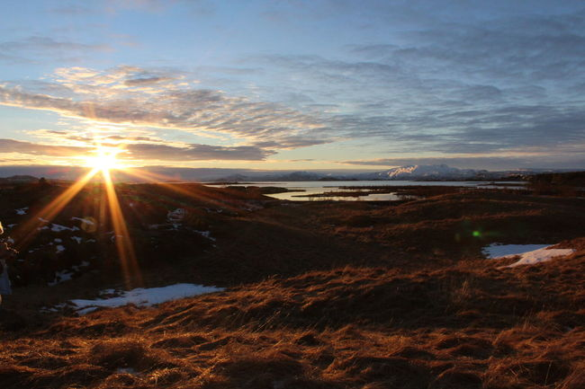Coastline Iceland Iceland Par Mountain Pingvellir Remote Road Trip Sunrise Thingvellir National Park Tranquil Scene Tranquility Winter
