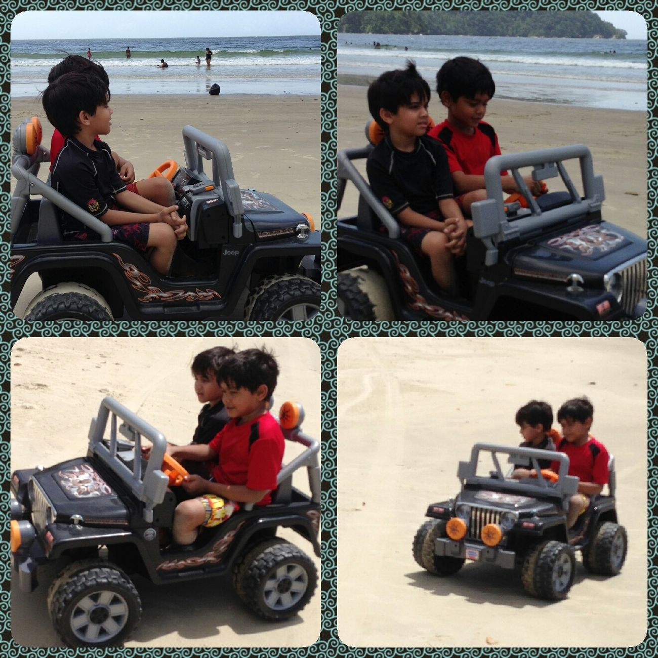 My Kids Strolling Along The Beach Fun Times
