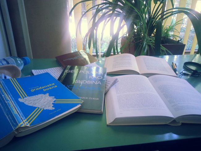Summer In Library Library 38°c Studying Political Science Bosnia And Herzegovina