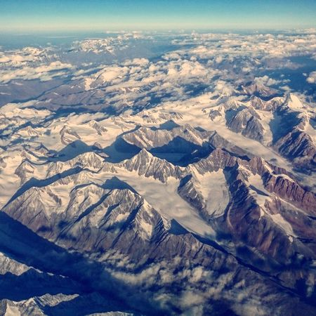 Himalayas! Nature No People Aerial View Day Outdoors Landscape Scenics Cold Temperature Snow Winter Beauty In Nature Sky
