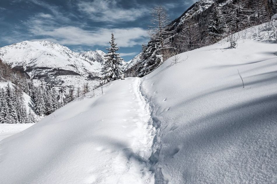 The way Italy Italia Granparadiso Snow Alps Aosta Mountains Winter Landscape Mountain Outdoors No People