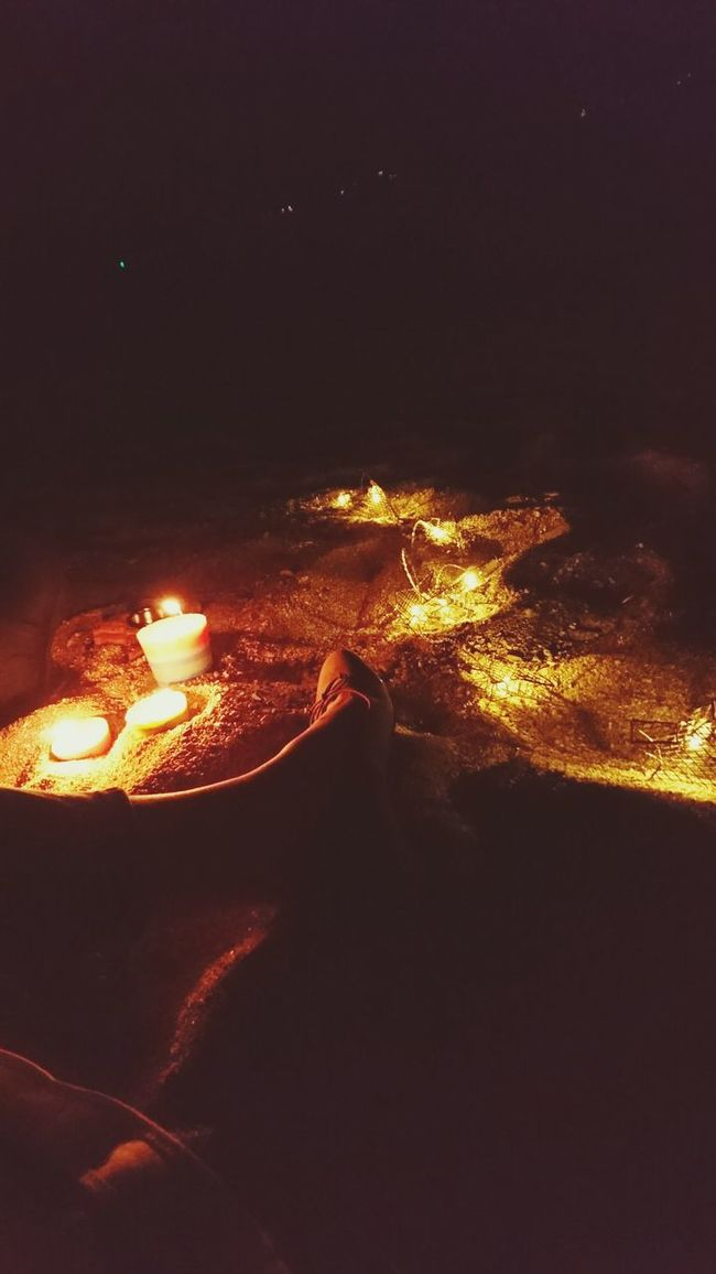 Outdoors Japannight Night Photography Relaxing Beautiful Beach Sea Love ♥ Happy Time Sweet♡ Candles night in the sea💗
