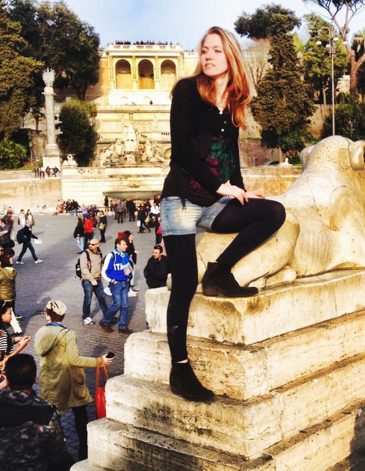 Piazza Del Popolo Rome Eterna Cittá Blonde Pincio LadyBlondie Model Italy Italia Roma Beautiful Place